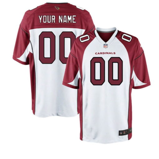 Arizona Cardinals Cardinal Custom Game Jersey white