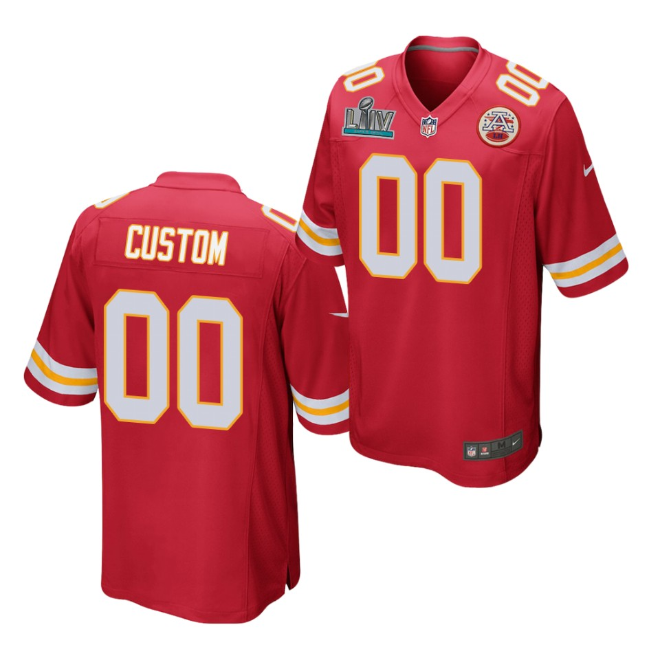 Men's and Youth's Kansas City Chiefs Custom Red Super Bowl ...