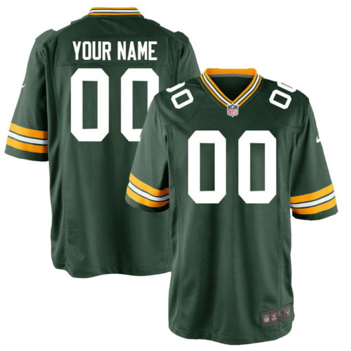 Men's Green Bay Packers Green Customized Game Jersey
