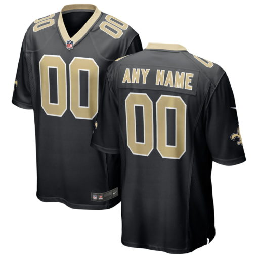 Men's New Orleans Saints Black Custom Game Jersey