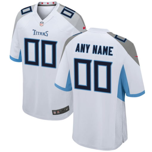 Men's Tennessee Titans White Custom Game Jersey