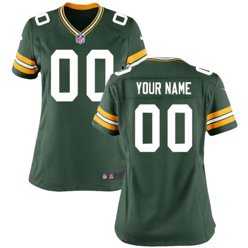 Women's Green Bay Packers Green Custom Throwback Jersey