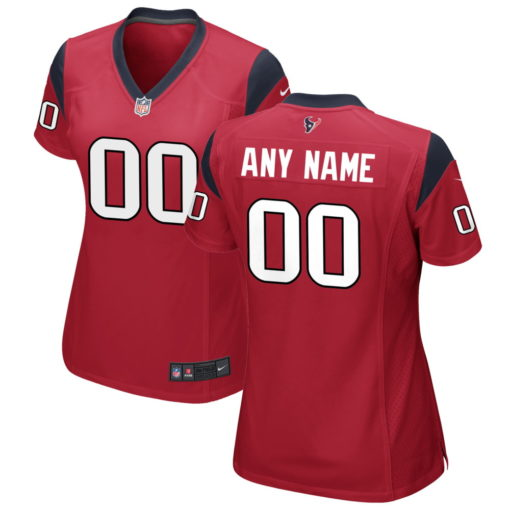 Women's Houston Texans Red Custom Game Jersey