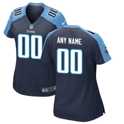 Women's Tennessee Titans Navy Custom Game Jersey