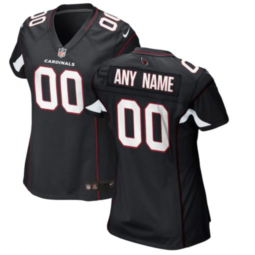women Arizona Cardinals Cardinal Custom Game Jersey black