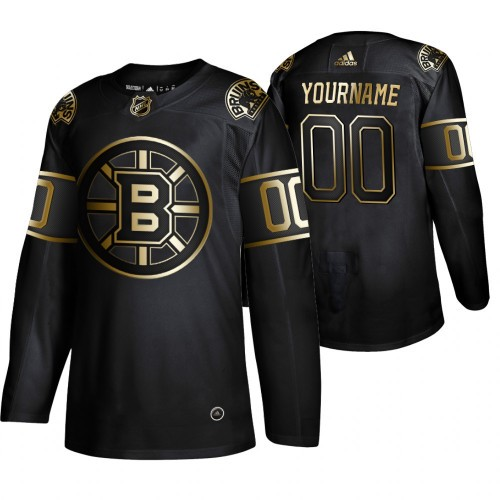 Boston Bruins Custom 2019 Black Golden Edition Stitched