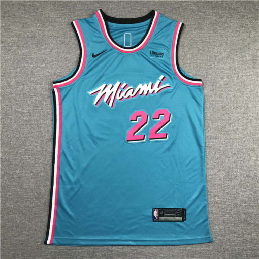 Jimmy Butler Miami Heat 2020-21 VICEWAVE blue Swingman Jersey