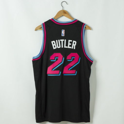 Jimmy Butler Miami Heat 2020-21 vice night blue Swingman Jersey 1