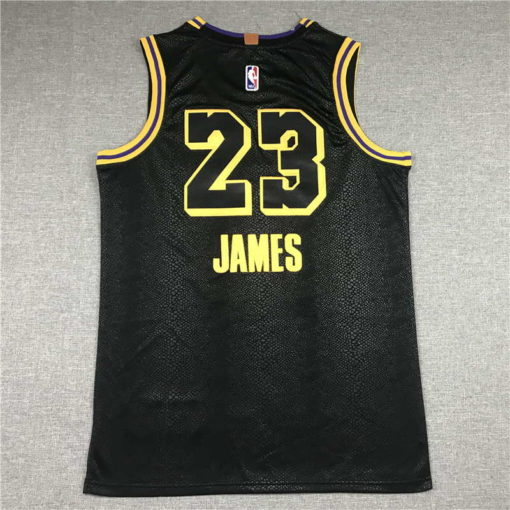 LeBron James #23 Lakers city edition Black jersey with Love path 1