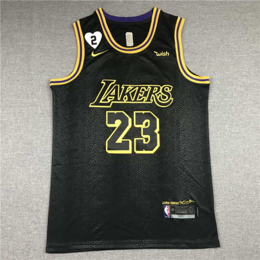 LeBron James #23 Lakers city edition Black jersey with Love path