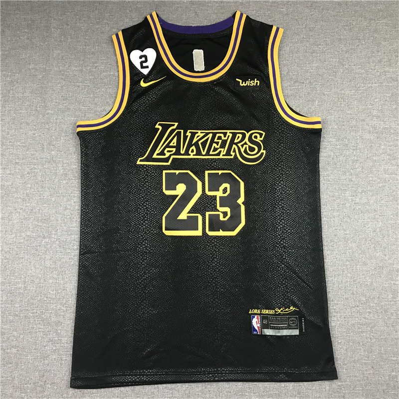 LeBron James #23 Los Angeles Lakers City Edition Black Jersey With Love Path