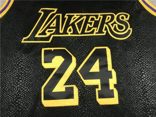 Kobe Bryant #24 Los Angeles Lakers City Edition Black Jersey With Love Path 2