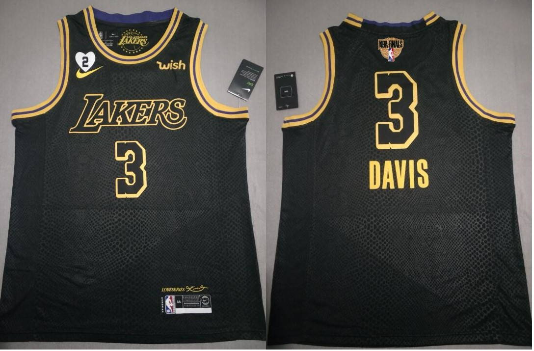 Anthony Davis #3 Los Angeles Lakers Final city edition Black jersey with Love path