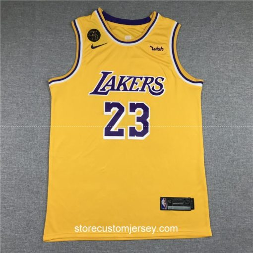 Los Angeles Lakers LeBron James 2019-20 Icon Edition Swingman Jersey 1