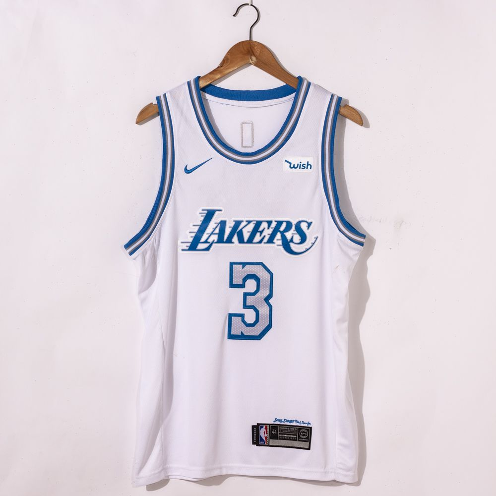 Anthony Davis #3 Los Angeles Lakers 2021 City Edition White Jersey