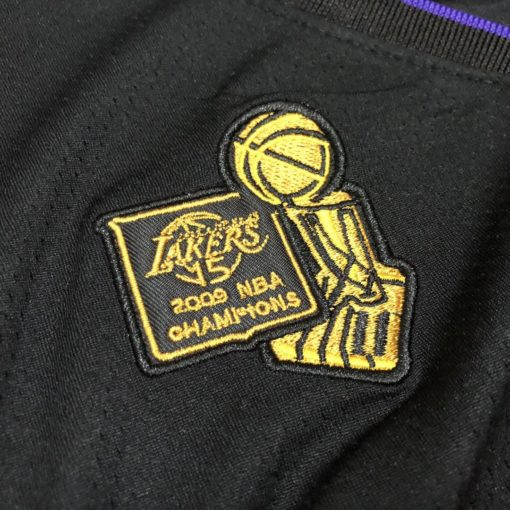 Bryant Lakers champion Authentic jersey black 4