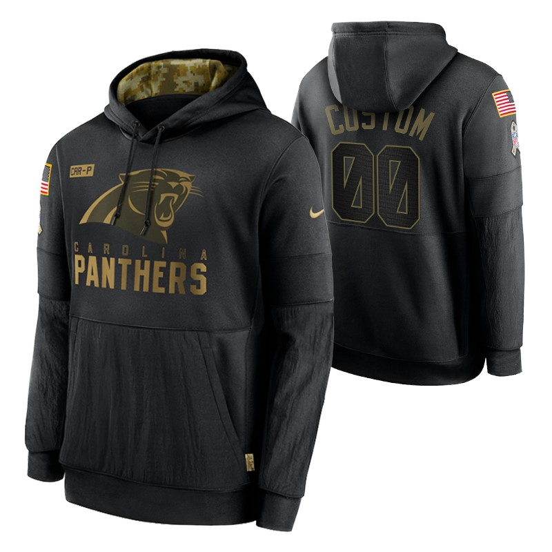 Details about  /Men/'s Carolina Panthers Team Sweatshirt Salute Service Sideline Therma Hoodie