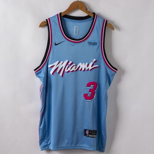 Dwyane Wade Miami Heat 2019-20 Vice Wave Blue Swingman Jersey