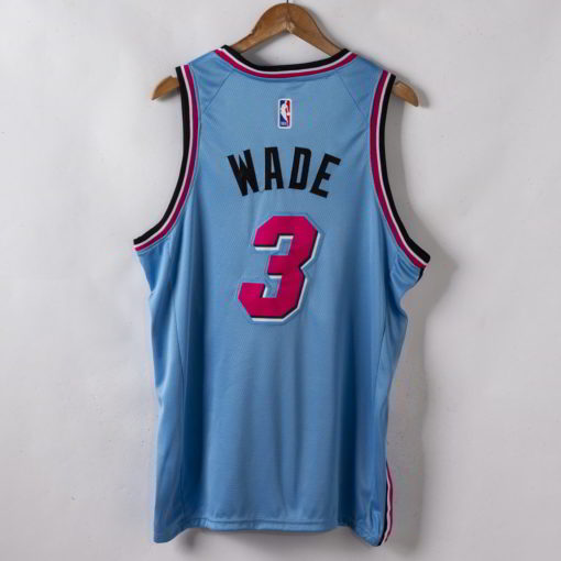 Dwyane Wade Miami Heat 2019-20 Vice Wave Blue Swingman Jersey back