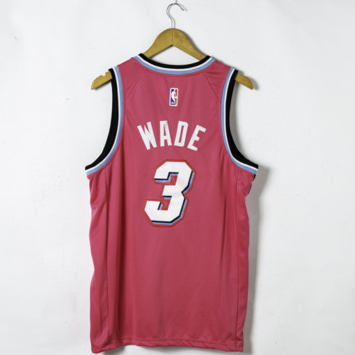 Dwyane Wade Pink 19-20 Swingman Jersey - City Edition back