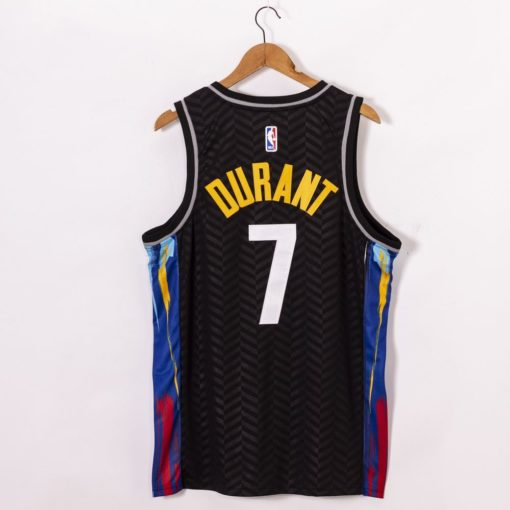 Kevin Durant 2021 City Edition Black Jerseys back