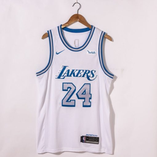 Kobe Bryant Los Angeles Lakers City Edition 2021 White Jersey