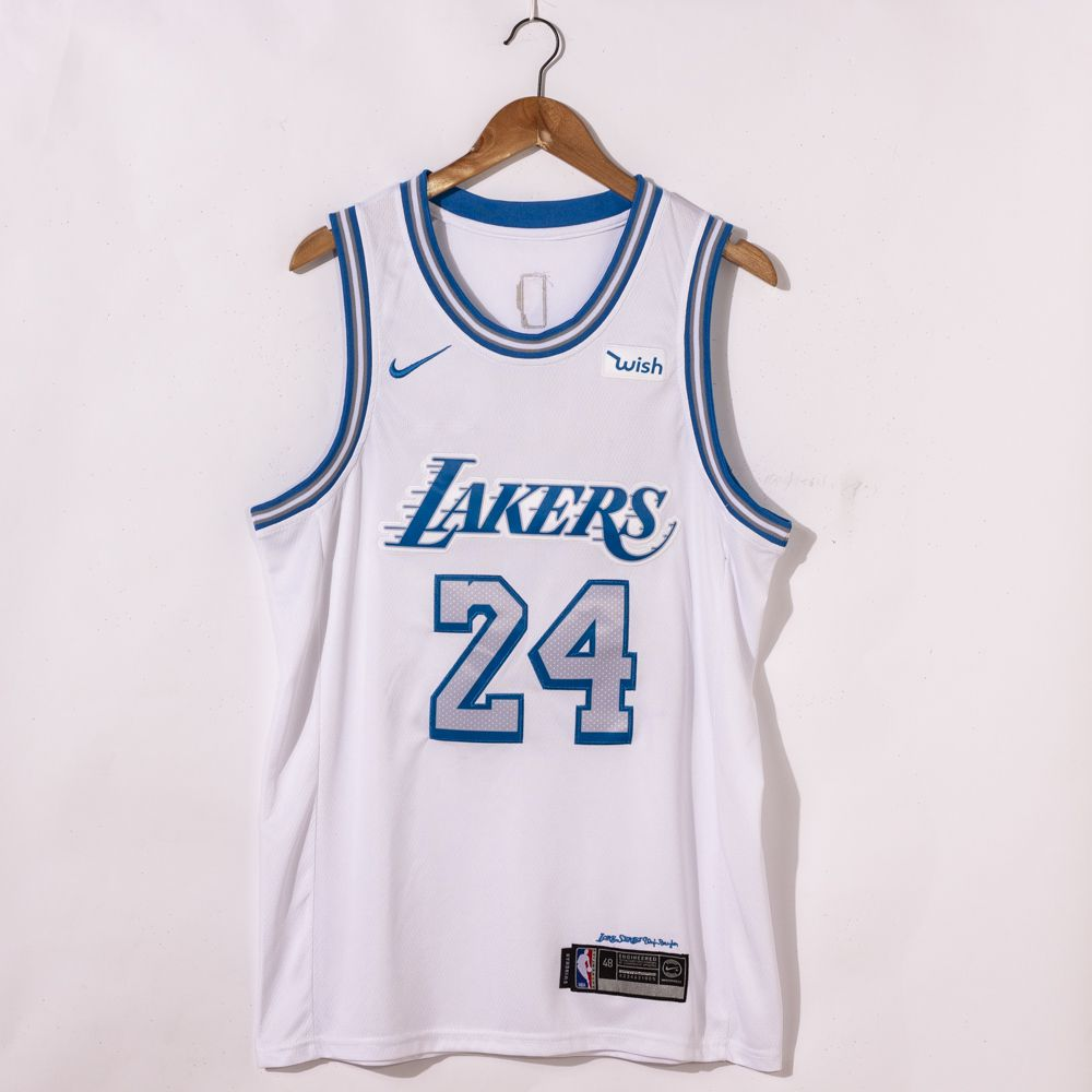 Kobe Bryant #24 Los Angeles Lakers 2021 City Edition White Jersey