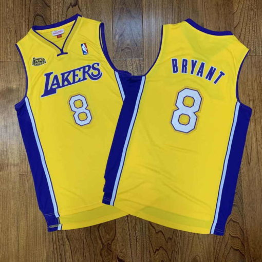 Kobe Bryant Los Angeles Lakers Home Finals 1999-00 Gold Jersey real