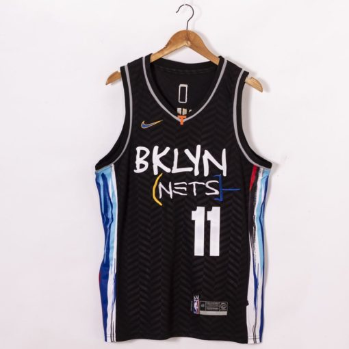 Kyrie Irving Brooklyn Nets 2021 City Edition Black Jerseys