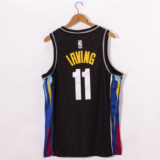 Kyrie Irving Brooklyn Nets 2021 City Edition Black Jerseys back