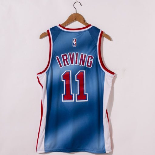 Kyrie Irving Brooklyn Nets 2021 Classic Edition Blue Jerseys back