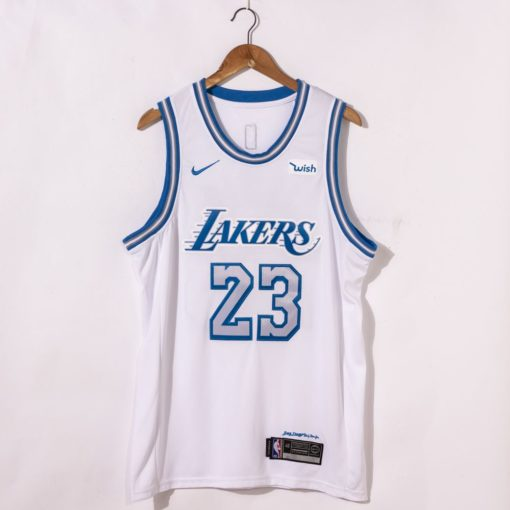 LeBron James Los Angeles Lakers City Edition 2021 White Jersey
