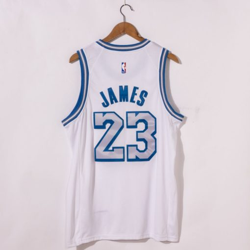 LeBron James Los Angeles Lakers City Edition 2021 White Jersey back