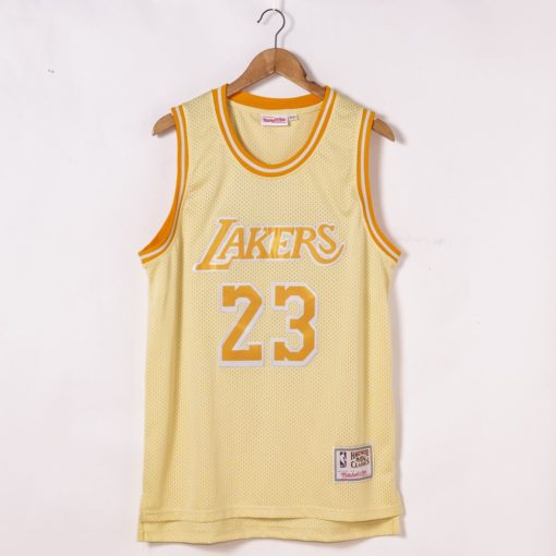 LeBron James Los Angeles Lakers Hardwood Classics Golden Edition Jersey