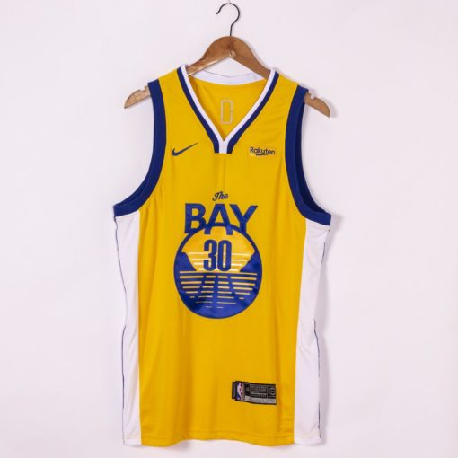 Stephen Curry Golden State Warriors Nike Finished Swingman Jersey Gold - Statement Edition