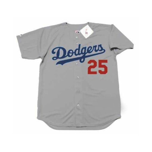 Tommy John #25 Los Angeles Dodgers Gray Away Throwback Baseball Jersey