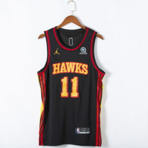 Trae Young #11 Atlanta Hawks 2021 Statement Edition Swingman Black Jersey