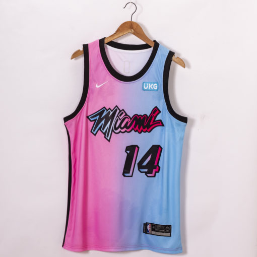 Tyler Herro Miami Heat 2020-21 Blue Pink Rainbow City Jersey
