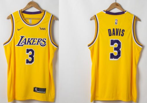 Anthony Davis Los Angeles Lakers 2019-20 Icon Swingman Gold Jersey real
