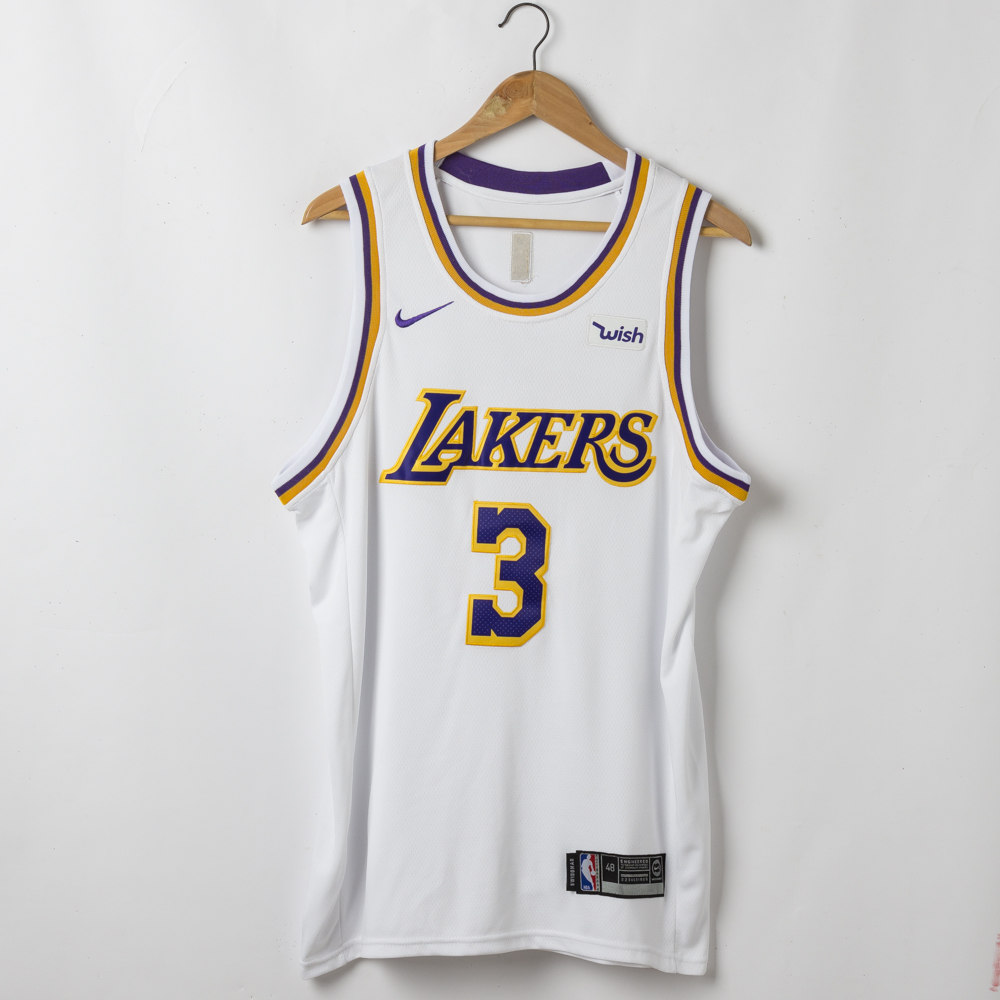 Anthony Davis #3 Los Angeles Lakers Association Edition White Jersey