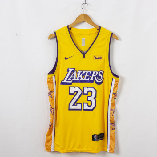 LeBron James Los Angeles Lakers 2019-20 City Edition Swingman Gold Jersey