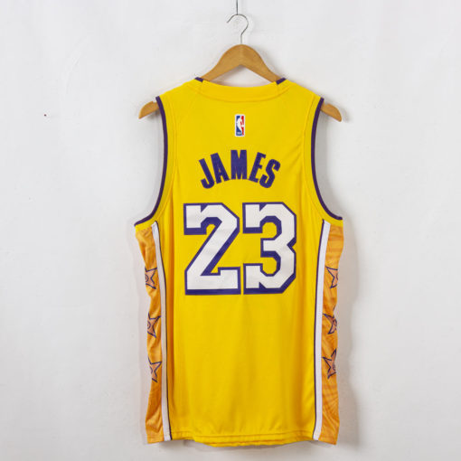 LeBron James Los Angeles Lakers 2019-20 City Edition Swingman Gold Jersey back