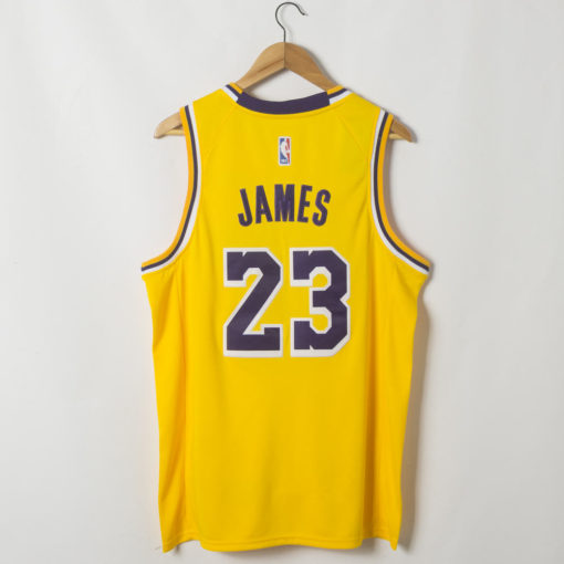 LeBron James Los Angeles Lakers 2019-20 Icon Swingman Gold Jersey back