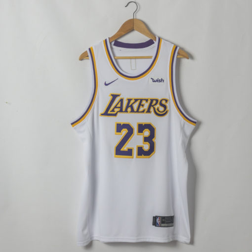 LeBron James Los Angeles Lakers Association Edition White Jersey