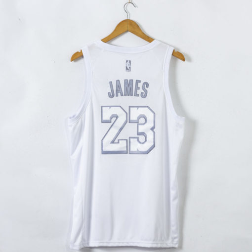 LeBron James Los Angeles Lakers White MVP #23 Jersey back