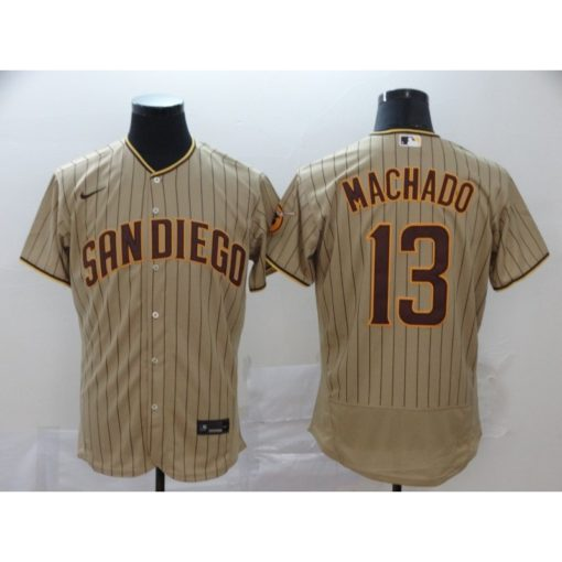 Men's Manny Machado TanBrown San Diego Padres Alternate 2020 Authentic Player Jersey