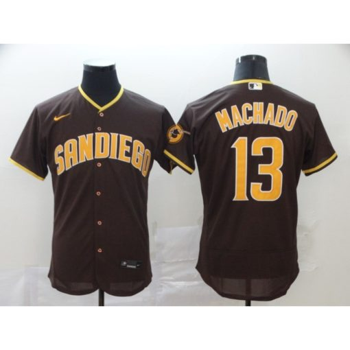 Men's San Diego Padres Manny Machado Brown Road 2020 Player Jersey