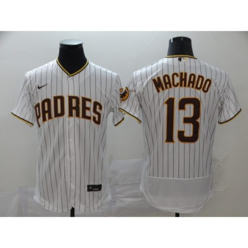 Men's San Diego Padres Manny Machado WhiteBrown Home 2020 Player Jersey