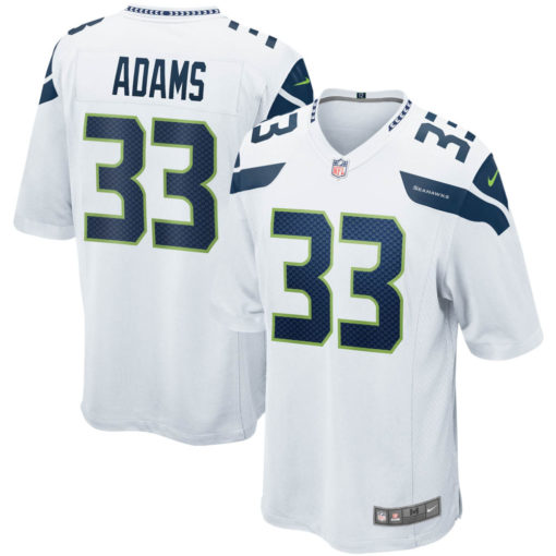 Men's Seattle Seahawks Jamal Adams Nike White Game Jersey