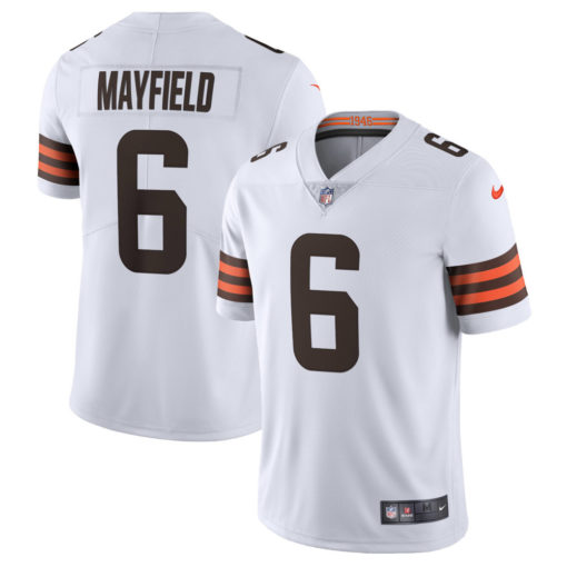Men's Cleveland Browns Baker Mayfield Nike White Vapor Limited Jersey